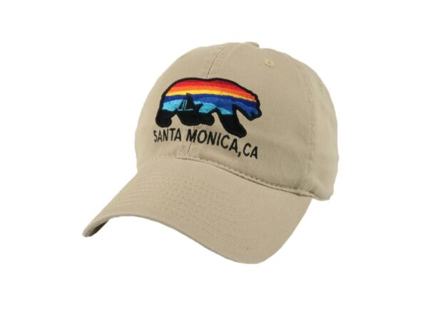 Sand 'n Surf Santa Monica California Old Fashion tracker Brown Hat