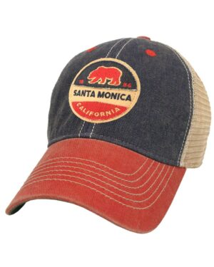 Santa Monica California Old Fashion 2-Tone Trucker Hat