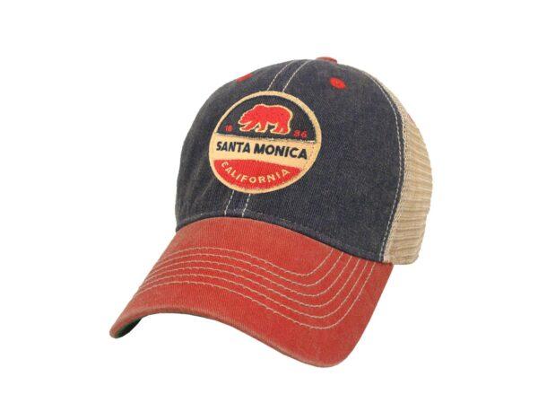 Santa Monica California Old Fashion 2-Tone Trucker Hat