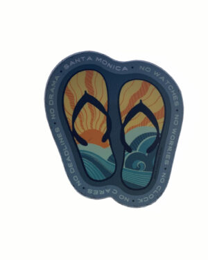 Sand 'n Surf Sticker - Santa Monica California Flipflops