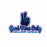 Sand 'n Surf Sticker - Santa Monica California Good Vibes Only