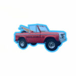 Sand 'n Surf Sticker - Santa Monica California Red Truck