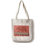 Sand 'n Surf Santa Monica, California - Bear Design 100 Cotton Tote Bag - Reusable
