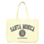 Sand 'n Surf Santa Monica, California Cotton Tote Bag - Reusable 1