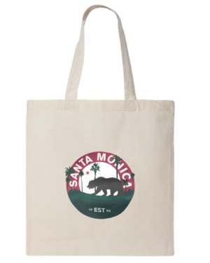 Santa Monica, California Cotton Tote Bag - Reusable