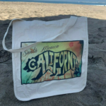 Santa Monica, California - Beach Palette 100% Cotton Reusable Travel Tote Bag