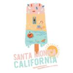 Santa Monica, CaliforniaSummer Popsicle Cotton Tote Bag - Reusable