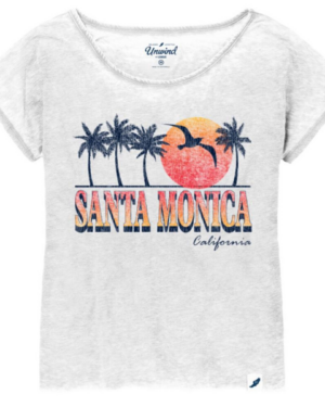 Women's Loose Fit Dolman - White 640WD w Santa Monica CA Sun Fade