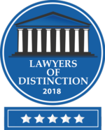 2018 Lawyers of Distinction 5 stars