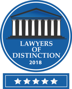 2018 Lawyers of Distinction Badge