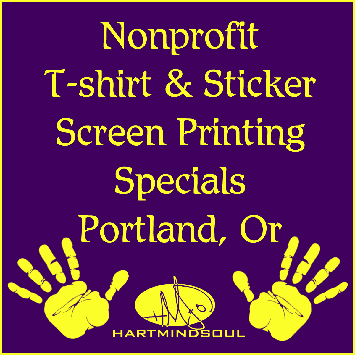 Nonprofit t shirt sticker specials portland - WORKING