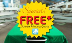 Get a free quote for custom screen printing