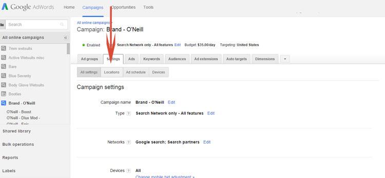 Google AdWords Changing Bid By Location