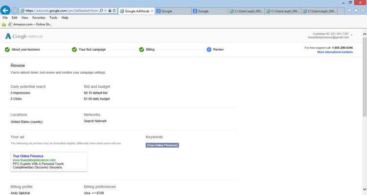 Google AdWords Account Review