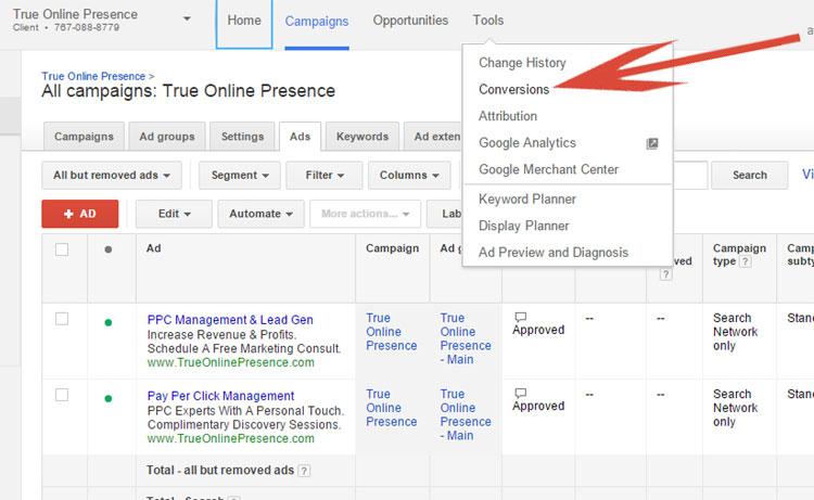 Google AdWords Tracking
