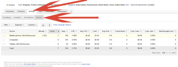 Google AdWords - Mobile Bid Adjustment