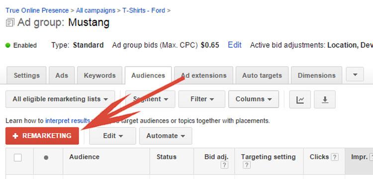 Google AdWords - Adding Remarketing List