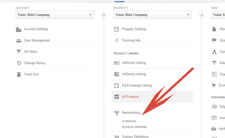Google Analytics - Remarketing Option