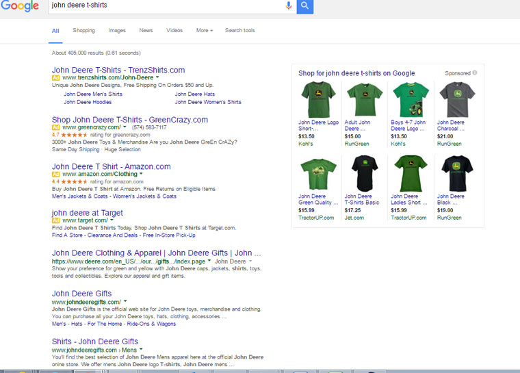 New SERP Layout - No Right Column Ads
