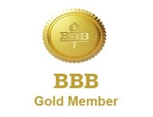 Better business Bureau Gold Member