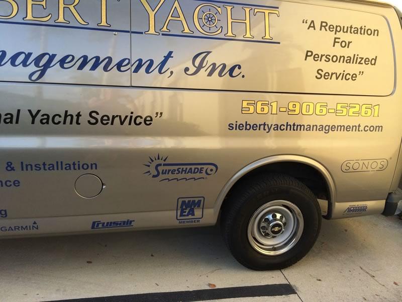 SureShade logo on our trucks