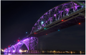 Peace Bridge at twilight