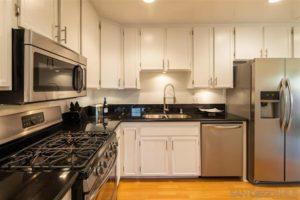West Laurel Street kitchen area