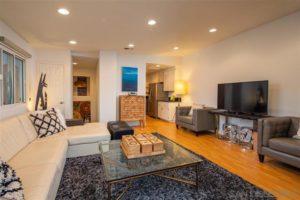 West Laurel Street living room area