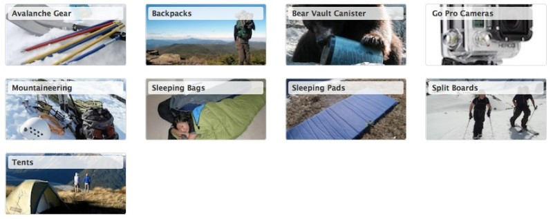 Outdoor Rental Gear