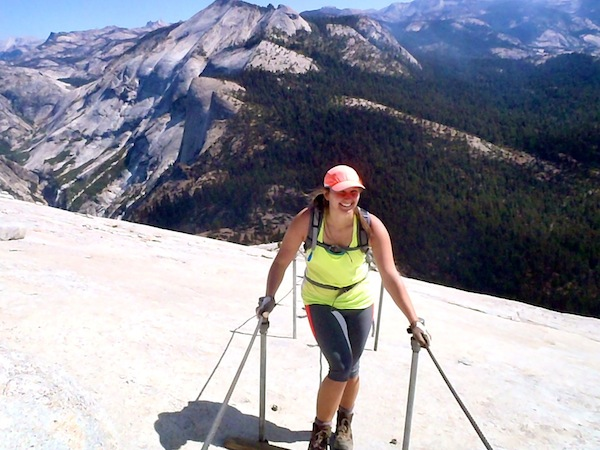 On the Cables at Half Dome