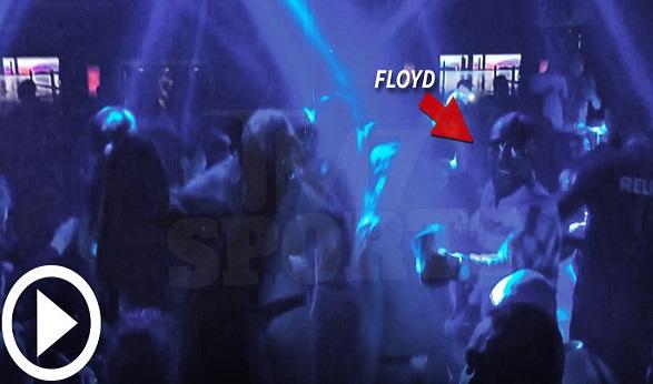 Floyd Mayweather $100,000 Rainstorm In Miami Strip Club