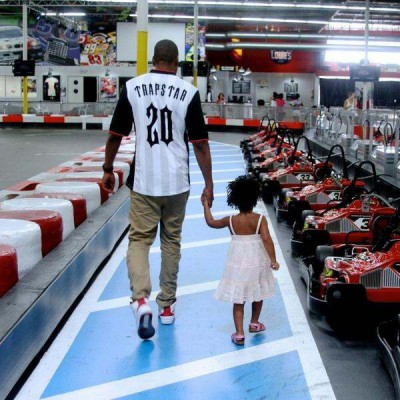 Beyonce, Jay Z & Blue Ivy Visit The Indoor Race Track