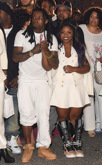 Reginae Carter celebrates her 16th birthday with her father Lil Wayne 3
