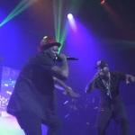 "(YG blood walks) while Performing ""My N*gga"" with Jeezy."