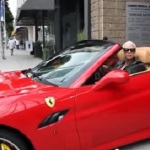 Amber Rose Gets A Flat On Her New Ferrari (Video).