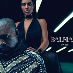 Kanye West & Kim Kardashian in New Balmain Campaign