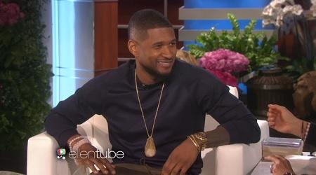 Usher on the Ellen Show