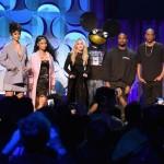 Jay-z , Rhianna ,Beyonce , Nicki Minaj & more Attend Tidal Press Conference.