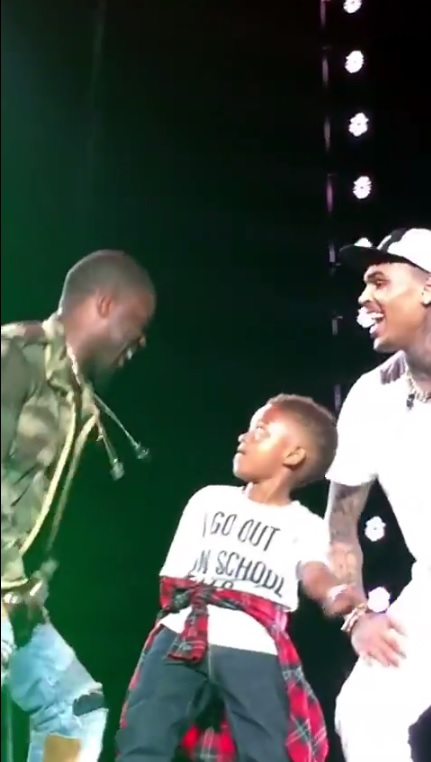 a moment a child will never forget chris brown, Kevin Hart & tyga