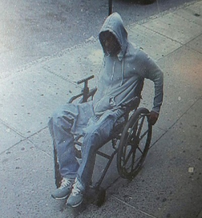 Man in wheelchair robs bank