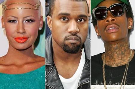 Kayne West Goes In On Wiz Khalifa & Amber Steps In.. Plus More..