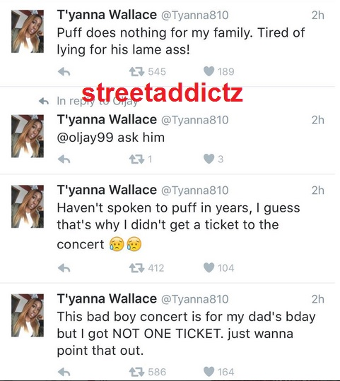 Biggie Smalls Daughter Tyanna Wallace Puts Diddy On Blast.. 1