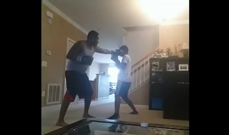 Father Charged With Assault & Battery After Posting Video Of Himself Boxing With Son As Discipline!