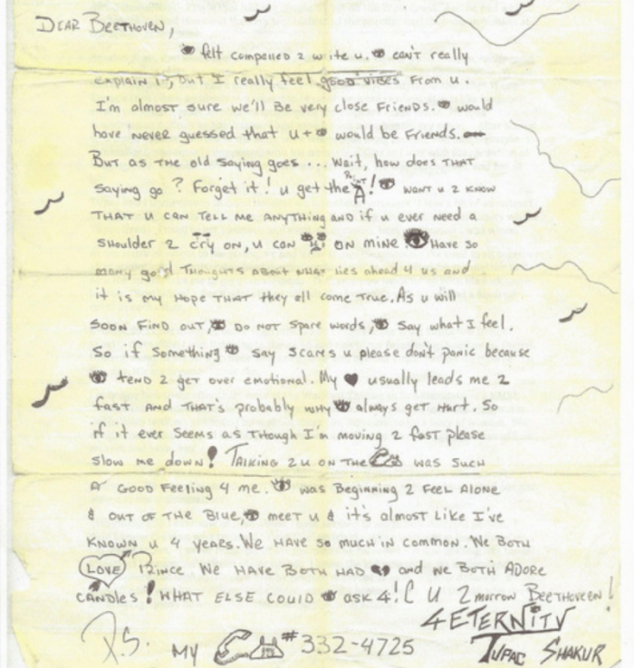 Woman Selling Love Letter Tupac Shakur Wrote Her For In High School For $35,000 2