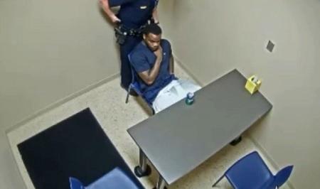 Murder Suspect Tries To Snatch Cop's Gun Inside Interview Room!