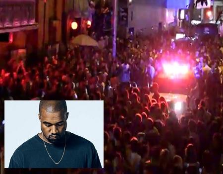 Vandals Attack After Kanye West's Show Gets Cancelled.