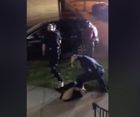 Rhode Island Cop Beats A Woman & Drags Her By Her Hair!
