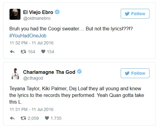 Rich Homie Quan Forgets B.I.G. Get Money Lyrics During VH1 Hip Hop Honors
