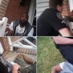 Police Violently Attacks Black Man For Sitting On His Mom's Porch