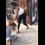 Girl Beats The Living Crap Out Of Chick Then She Starts Shooting At Her Car